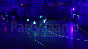 Blacklight handbal glow tape lijnen