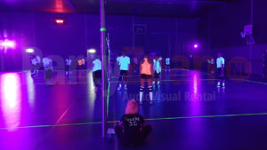 Blacklight sport evenement