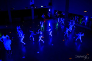 Blacklight sport schermen