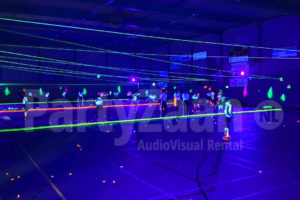 Glow in the dark neon hockey
