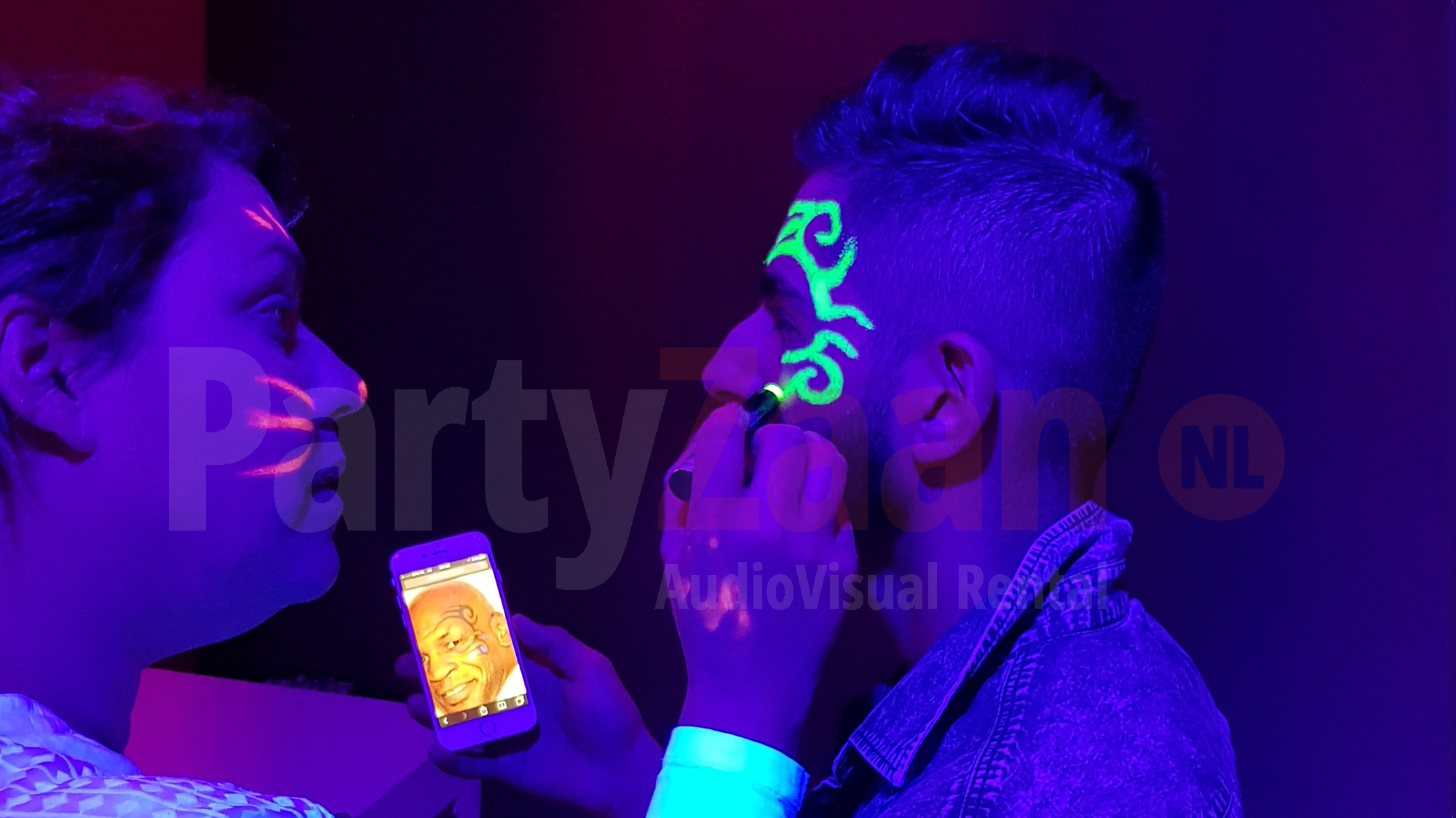 Glow In The Dark Schmink Stiften Voor Blacklight Sport Evenement