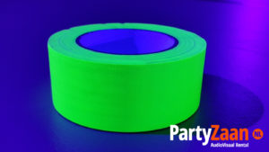 Blacklight UV glow in the dark tape