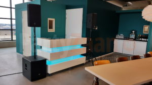 DJ meubel luxe wit booth LED verlichting