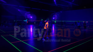 Badminton blacklight glow in the dark