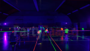 Badminton glow blacklight