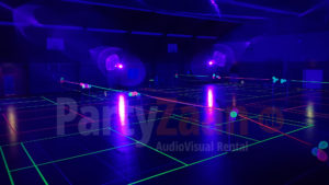 Glow badminton blacklight
